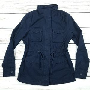 Old Navy Navy Cotton Utility Jacket XS